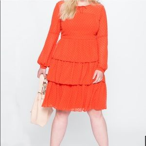 Cute Eloquii orange dress